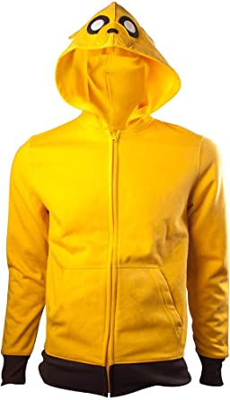 Adventure Time Jake Men's Yellow Hoodie