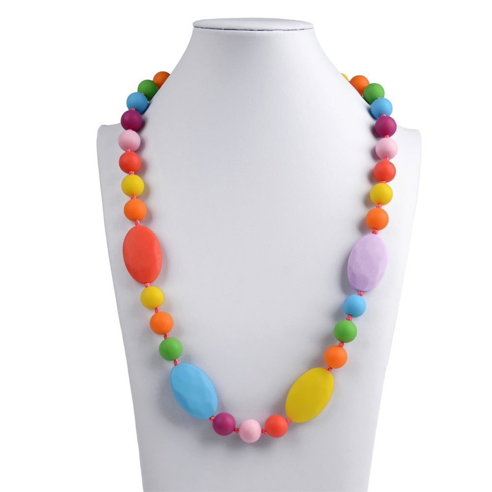 V-TOP Chewable Silicone Baby Teething Necklace for Mom to Wear