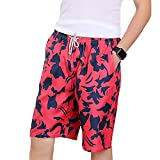 FarJing Clearance sale Mens Shorts Swim Trunks Quick Dry Beach Surfing Running Swimming Water Pants (L,Red