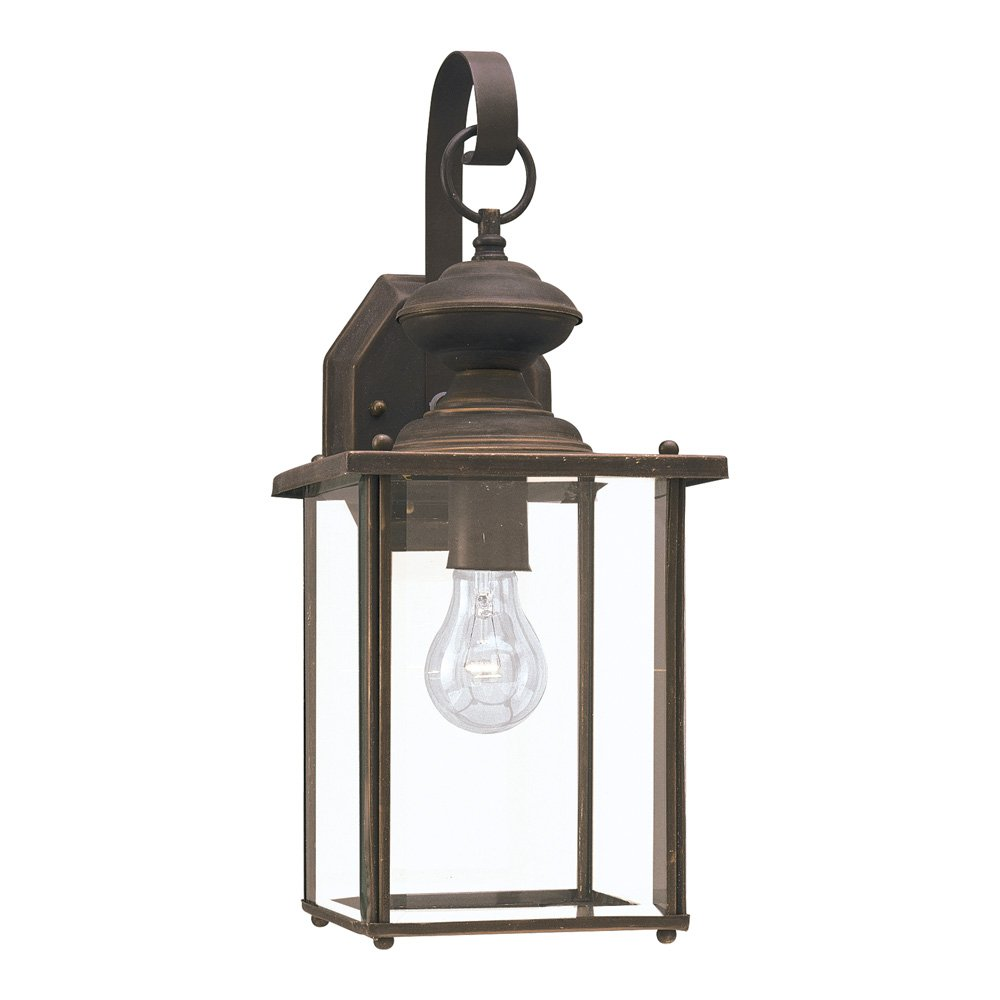 Sea Gull Lighting 8458-71 Jamestowne One-Light Outdoor Wall Lantern with Clear Beveled Glass Panels, Antique Bronze Finish by Sea Gull Lighting