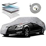 Motor Trend M5-CC-4 XL Car Cover (7-Series Defender Pro - Waterproof for All Weather - Snow - Wind - Rain & Sun - Ultra Heavy 6 Layers - Fits Up to 210