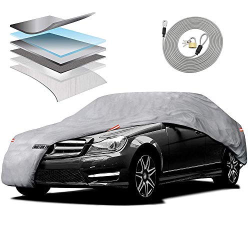 99 Mitsubishi Eclipse Convertible - Motor Trend M5-CC-3 L (7-Series Defender Pro-Waterproof Car Cover for All Weather-Snow, Wind, Rain & Sun-Ultra Heavy 6 Layers-Fits Up to 190