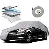 "Motor Trend M5-CC-5 XXL Car Cover (7-Series Defender Pro - Waterproof for All Weather - Snow, Wind, Rain & Sun - Ultra Heavy 6 Layers - Fits Up to 228"")"