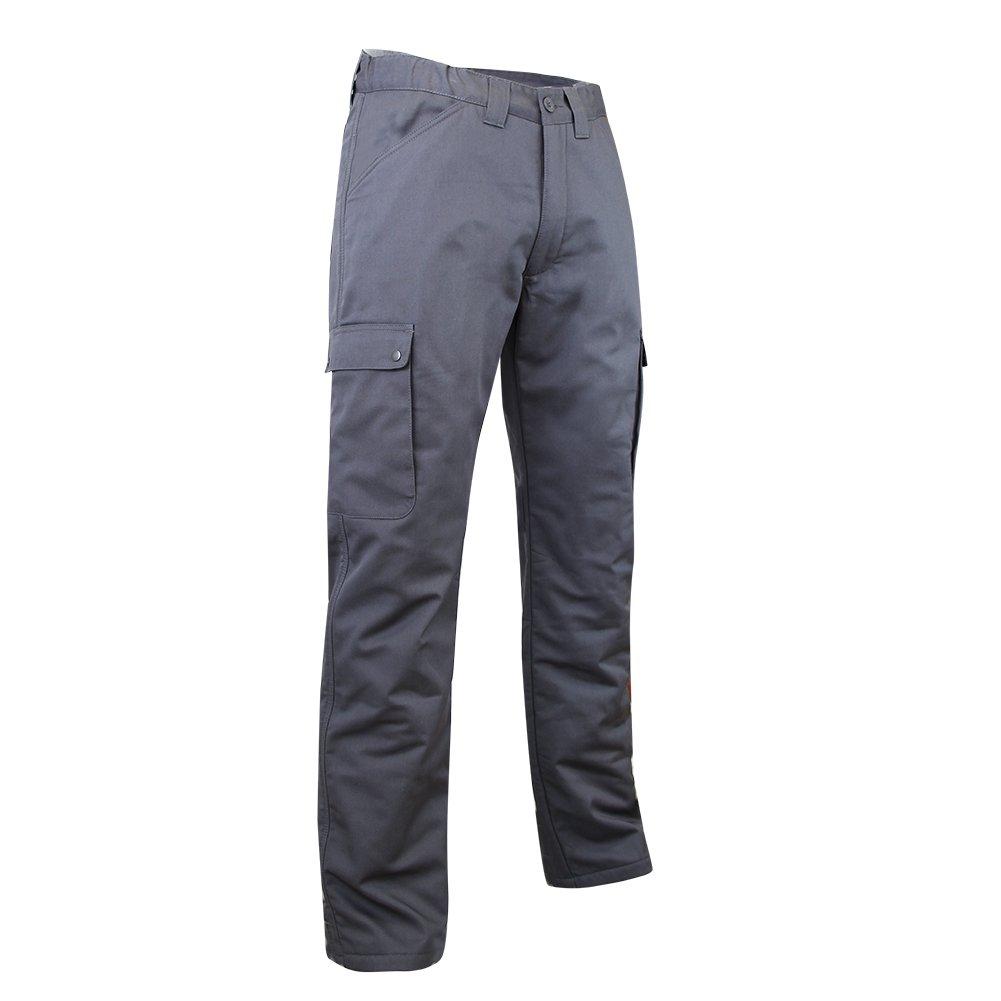 LMA 1007 OURS Pantalon Cargo doublé polaire, Gris, Taille 54 Lebeurre