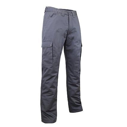 LMA 1007 OURS, Pantalones Cargo forrados con forro polar, Gris, 50