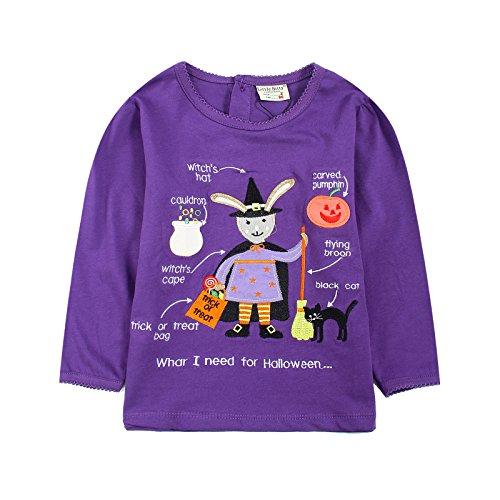 Neighbor Girl Children Baby Witch Saw Pumpkin Halloween sweatshirts 100% Cotton (2-7 years) (Saw Costume Ideas)
