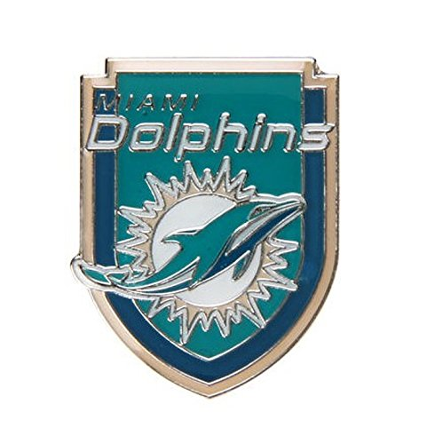 Miami Dolphins Football Sports Pin Crest Design NFL Licensed (Nfl Football Pin)