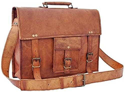 TUZECH Real Buffalo Leather bag Regular Use Stylish Hunter Messenger Bag -Fits Laptop Upto 15.6 Inches