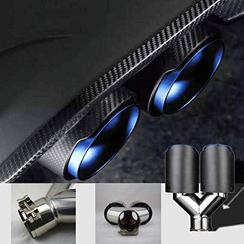 Carbon Fiber Endrohr Dual Pipe Round Mouth Auto Auspuff Liner Universal Hals Für Auto 63mm Ende Blau Wie Gezeigt Küche Haushalt