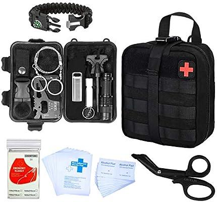 GRULLIN Kit de Supervivencia 44 en 1 Equipo de Supervivencia de ...