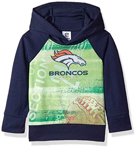 NFL Denver Broncos Unisex-Baby Pullover Hoodie, Blue, 12 Months (Blue Infant Pullover Hoody)