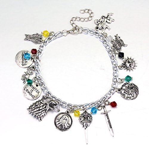 Main Street 24//7 Stranger Things TV Show Theme Silvertone Metal Charm Bracelet