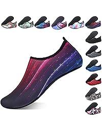 SYKT Water Shoes Barefoot Quick-Dry Aqua Yoga Socks Slip-on Men Women Kids