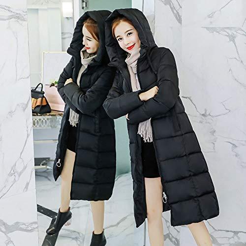 À Col Noir Femme Avec Matelassée Amuster Fourrure Rembourrée Capuche Costume Long De Pour Moyen Veste Coton Hiver Femmes En Manteau nHYqYwp0