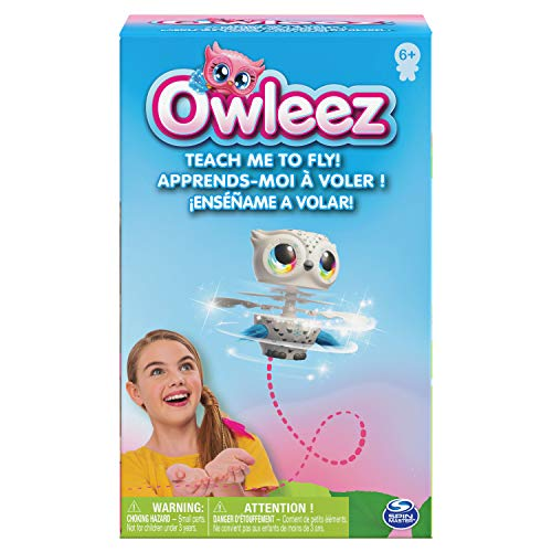 Owleez, Flying Baby Owl Interactive Toy with Lights & Sounds (White), for Kids Aged 6 & Up
