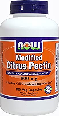 Modified Citrus Pectin 800 mg-180 Vegetable Capsules by Now Foods