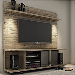 "Bowery Hill 71"" TV Stand and Panel in Natural and Onyx"