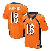 18 Peyton Manning Denver Elite Mens Football Jersey Orange