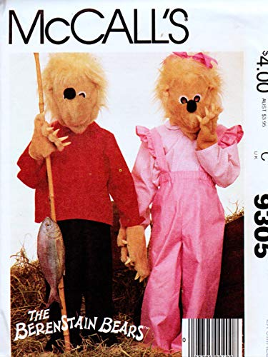 McCall's 9305 The Berenstain Bears - Children's, Boys' and Girls' Costumes Vintage Sewing Pattern, Check Listings for Size