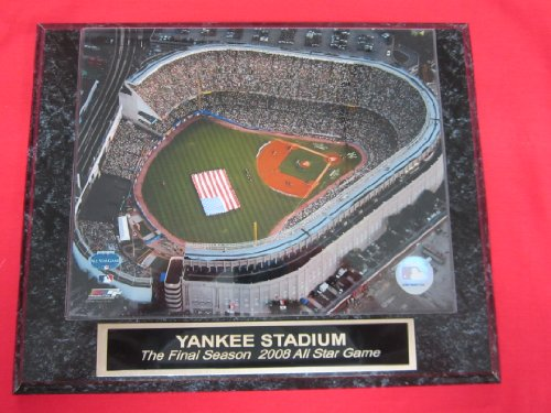 Yankee Stadium FINAL SEASON 2008 ALL STAR GAME Collector Plaque w/8x10 Overhead Photo!