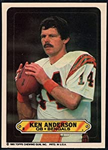 Football NFL 1983 Topps Stickers #2 Ken Anderson Bengals