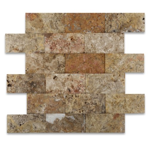 Scabos 2X4 Travertine CNC Arched 3-D Mosaic Tile cheap