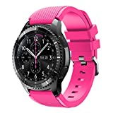 For Samsung Gear S3 Frontier New Fashion Sports Silicone Bracelet Strap Band,Outsta Watch Band Wrist Strap Watch Accessories Bracelet Best Gift 22mm (Pink)