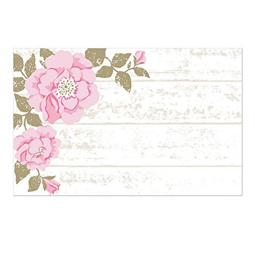 Cottage Rose Enclosure Cards / Gift Tags - 3 1/2 x 2 1/4 (50) ()