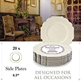 Silver Spoons Disposable Dinnerware Plates
