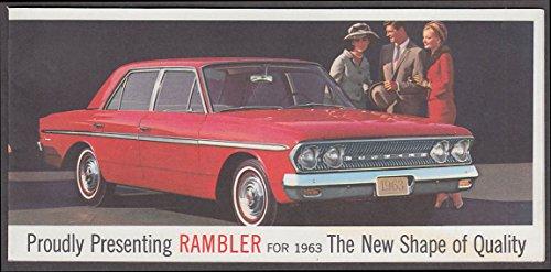 American Motors AMC Rambler for 1963 sales brochure