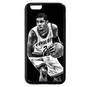 Onelee(TM) - Customized Black Soft Rubber TPU iPhone 6 Case, NBA Superstar Cleveland Cavaliers Kyrie Irving Black Soft Rubber TPU iPhone 6 Case