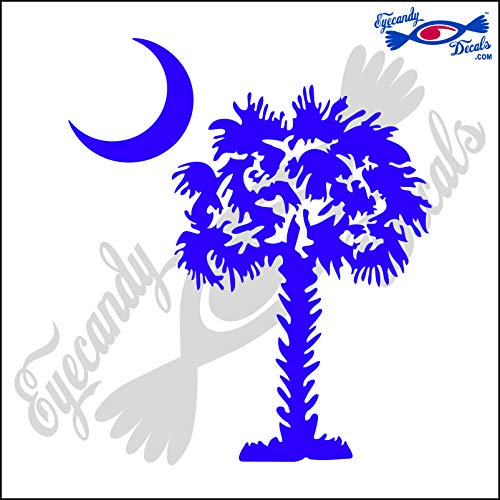 Eyecandy Decals SOUTH CAROLINA PALMETTO MOON (DETAILED STYLE) 5