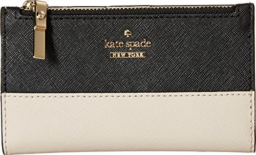 Kate Spade New York Womens Cameron Street Mikey Small Wallet  Tusk Black  One Size