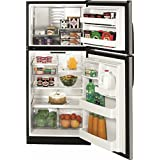GE REFRIGERATORS 632134 Energy Star 18 cu. ft. Top Freezer Refrigerator, Clean steel/Black Case, Reversible Door Swing
