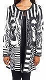 Joseph Ribkoff Black & White Stripe + Graphic Design Coat Style 163874 - Size 14