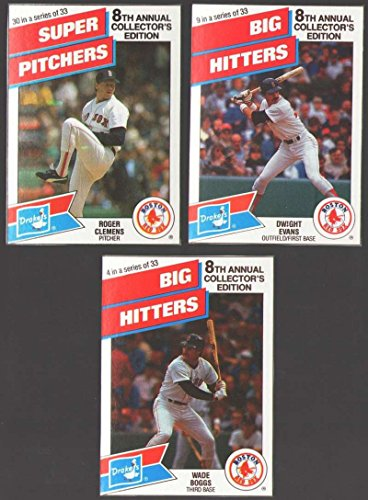 (1988 Drake's Big Hitters Super Pitchers - BOSTON RED SOX Team Set)