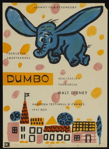 Dumbo Movie Poster (11 x 17 Inches - 28cm x 44cm) (1941) Polish Style A -(Sterling Holloway)(Edward Brophy)(Verna Felton)(Herman Bing)(Cliff Edwards) by MG Poster