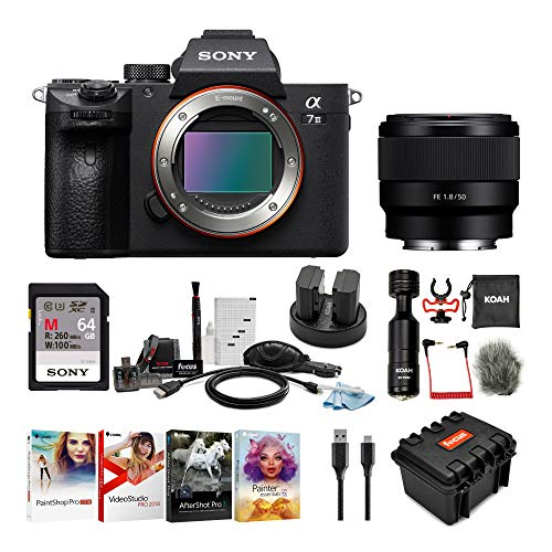 Sony a7 III Full Frame Mirrorless Camera Bundles (a7III Body + SEL50F18F Lens Bundle)