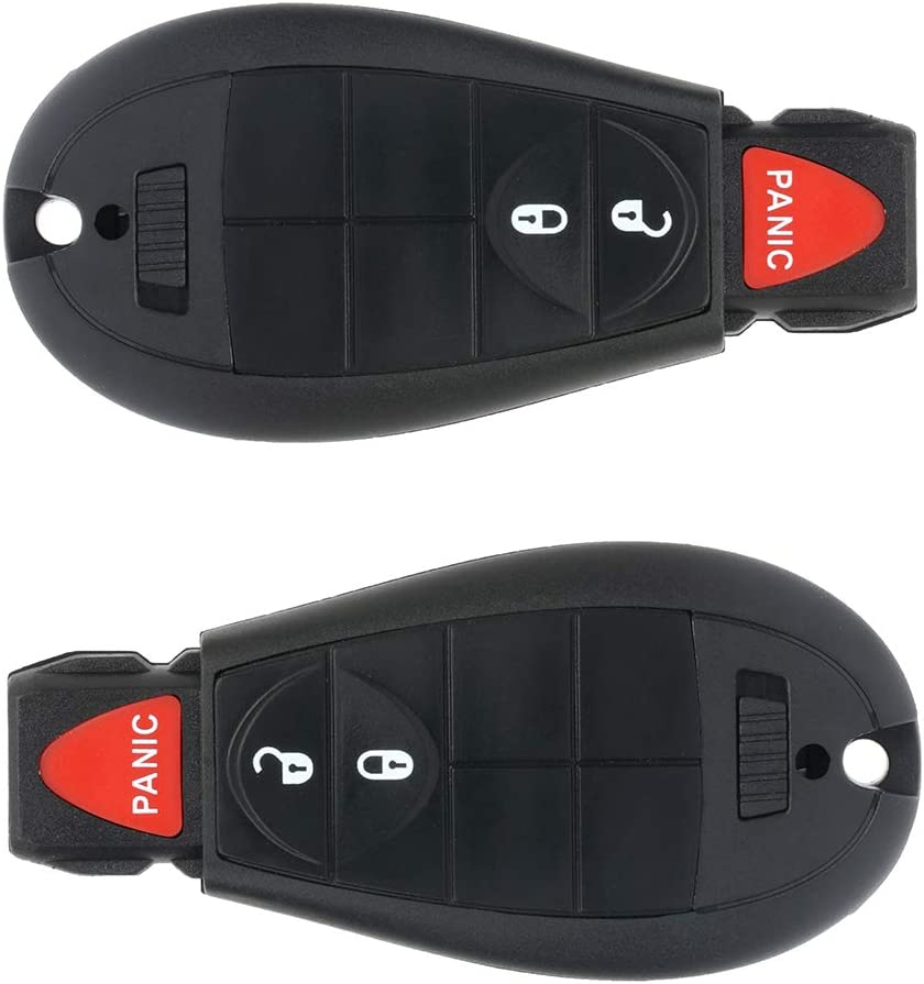 ANGLEWIDE Flip Key Fob Keyless Entry Remote Control 3 Buttons Black Replacement for Ram 1500 2500 3500 4000 4500 5500 13-17 2pads FCC GQ4-53T