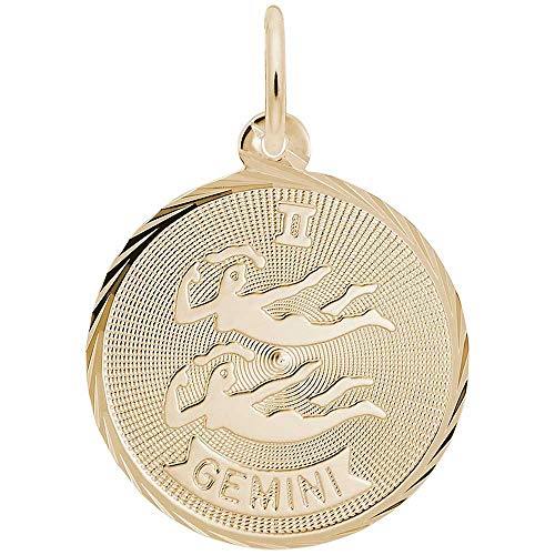 Rembrandt Charms Gemini Charm, Gold Plated Silver