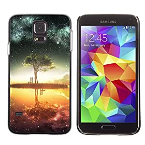 SKCASE Center / Funda Carcasa - Lago Árbol - Samsung Galaxy S5