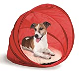 Pop up Pet Bed Cover Shade Dog Cat Cushion Travel Folding Red Fleece Comfort