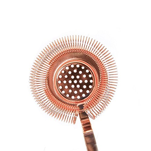 BarConic Long Ridged Handle No Prong Strainer - Copper by BarConic (Image #2)