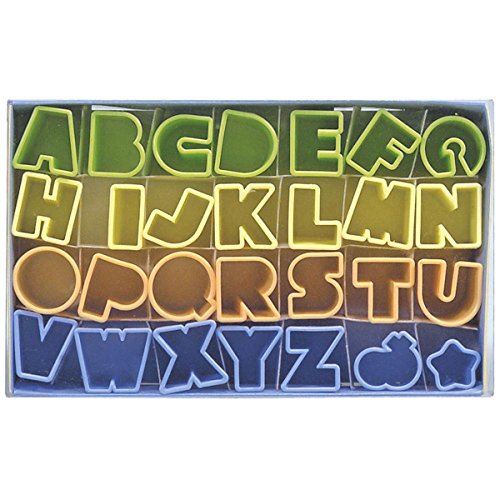 Städter 171299 Ausstechformen Alphabet 28-teilig aus Kunststoff in einer Geschenkbox mit Rezep