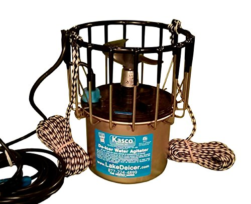 Marine Pond (Kasco Marine 2400D025 - De-Icer, 1/2hp, 120 volts, Clears A Circle Up To 50' Diameter, 25' Cord)