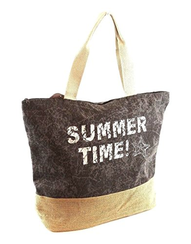 Summer Bag Reusable or Holiday Black Tote Canvas Womens Large Time Shoulder Stripe Metallic Summer Beach Bags Peach Multi Bag Shopper wq1TTgX