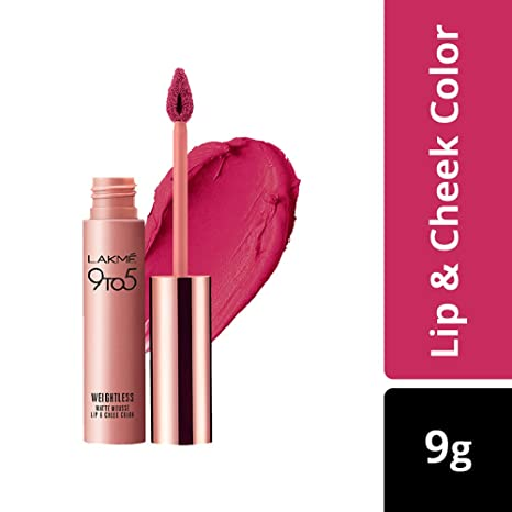 Buy Lakme 9 To 5 Weightless Mousse Lip And Cheek Color Fuchsia Sude