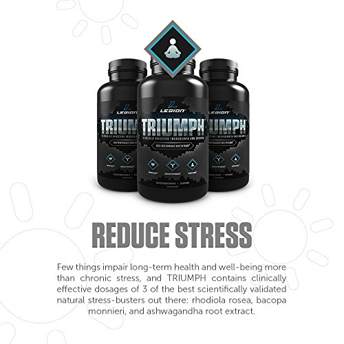 Legion Triumph Daily Multivitamin Supplement - Vitamins and Minerals for  Anxiety, Depression, Stress, Immune System, Heart Health, Energy, Sports &