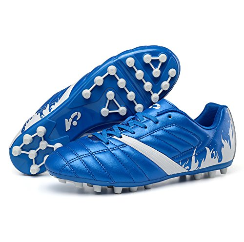 Xing Lin Zapatos De Fútbol Big Spike Zapatillas De Fútbol Junior High School Kick Juego Zapatos Azul 12 Años 13 Años 37 Yardas 38 Yardas 39 Yardas, 42, Azul