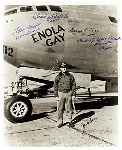 Enola Gay Crew - Photograph Signed with co-signers
